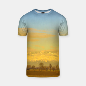 Thumbnail image of Piamonte Landscape Afternoon Scene, Italy T-shirt, Live Heroes