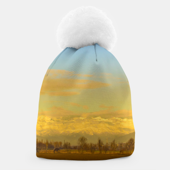 Thumbnail image of Piamonte Landscape Afternoon Scene, Italy Beanie, Live Heroes