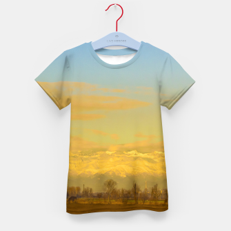 Thumbnail image of Piamonte Landscape Afternoon Scene, Italy Kid's t-shirt, Live Heroes
