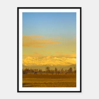 Thumbnail image of Piamonte Landscape Afternoon Scene, Italy Framed poster, Live Heroes