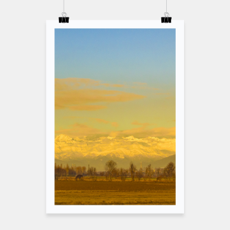 Thumbnail image of Piamonte Landscape Afternoon Scene, Italy Poster, Live Heroes