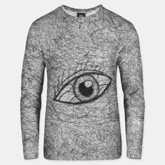 Miniaturka eye drawn with pen Unisex sweater, Live Heroes