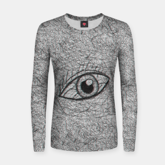 Miniaturka eye drawn with pen Women sweater, Live Heroes