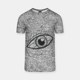 Miniaturka eye drawn with pen T-shirt, Live Heroes