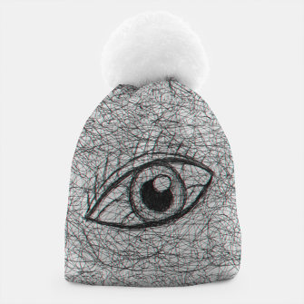 Miniaturka eye drawn with pen Beanie, Live Heroes