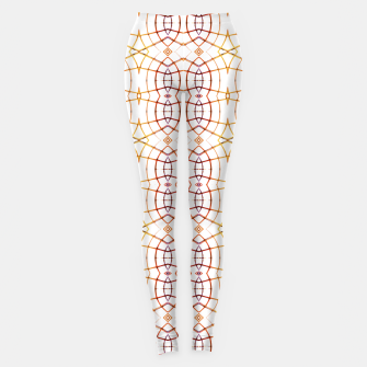 Miniatur Bright Modern Interlace Print Pattern Leggings, Live Heroes