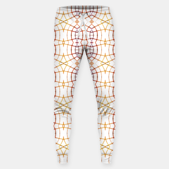Miniatur Bright Modern Interlace Print Pattern Sweatpants, Live Heroes