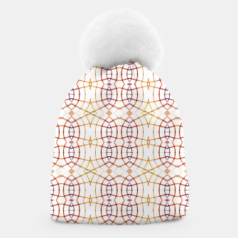 Thumbnail image of Bright Modern Interlace Print Pattern Beanie, Live Heroes