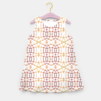 Miniatur Bright Modern Interlace Print Pattern Girl's summer dress, Live Heroes