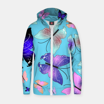 Thumbnail image of Spectrum colorful artistic design butterfly pattern Zip up hoodie, Live Heroes