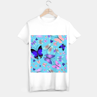 Thumbnail image of Spectrum colorful artistic design butterfly pattern T-shirt regular, Live Heroes