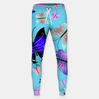 Thumbnail image of Spectrum colorful artistic design butterfly pattern Sweatpants, Live Heroes