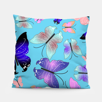 Thumbnail image of Spectrum colorful artistic design butterfly pattern Pillow, Live Heroes