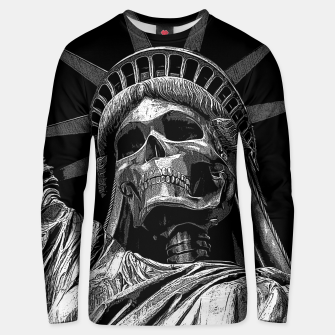 Miniatur Liberty or Death B&W A dark piece of goth Americana for men and women Unisex sweater, Live Heroes