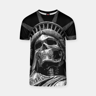 Thumbnail image of Liberty or Death B&W A dark piece of goth Americana for men and women T-shirt, Live Heroes