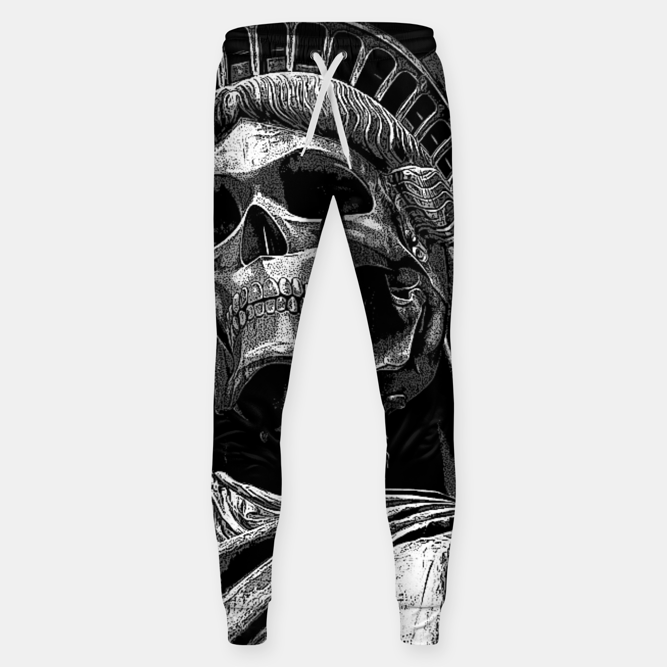 Image of Liberty or Death B&W A dark piece of goth Americana for men and women Sweatpants - Live Heroes