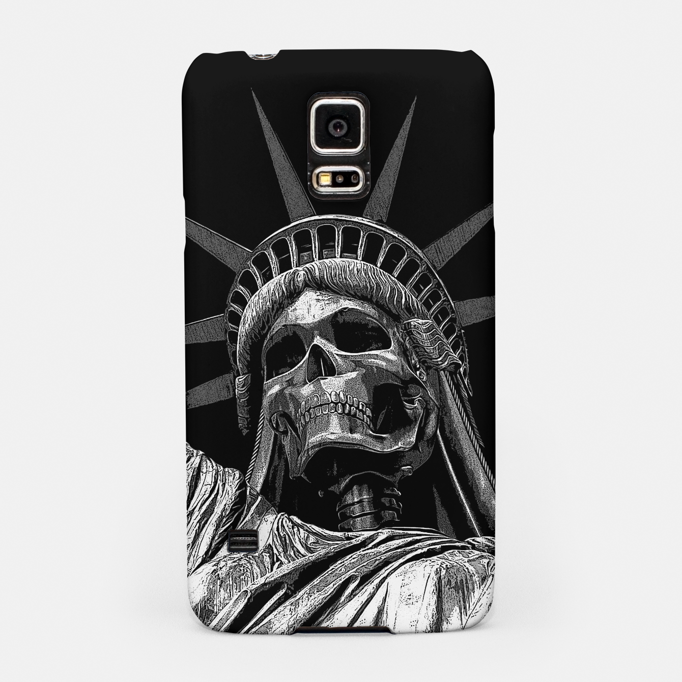 Image of Liberty or Death B&W A dark piece of goth Americana for men and women Samsung Case - Live Heroes