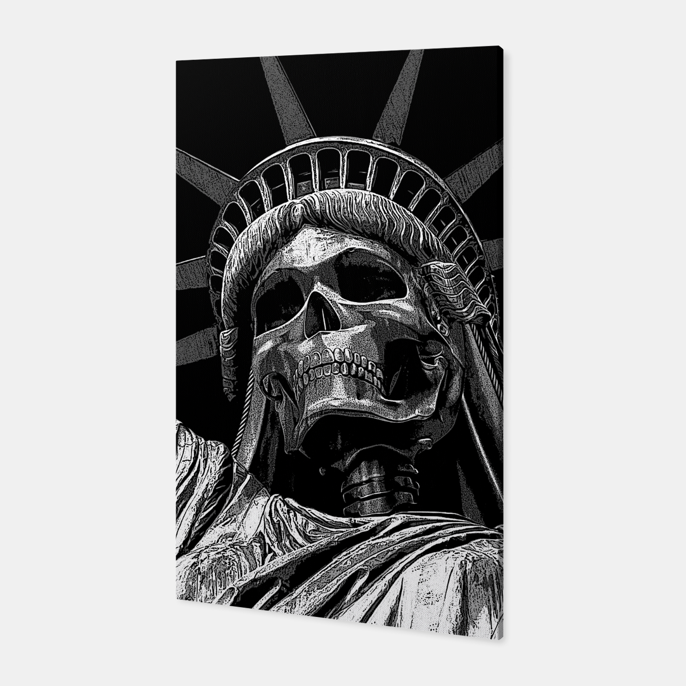 Foto Liberty or Death B&W A dark piece of goth Americana for men and women Canvas - Live Heroes