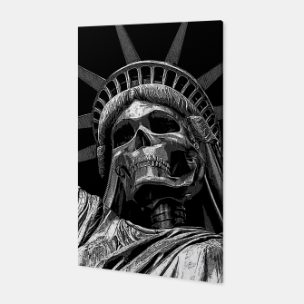 Liberty or Death B&W A dark piece of goth Americana for men and women Canvas thumbnail image
