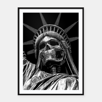Thumbnail image of Liberty or Death B&W A dark piece of goth Americana for men and women Framed poster, Live Heroes
