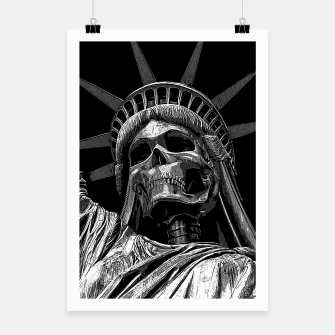 Miniaturka Liberty or Death B&W A dark piece of goth Americana for men and women Poster, Live Heroes