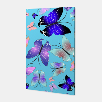 Thumbnail image of Spectrum colorful artistic design butterfly pattern Canvas, Live Heroes