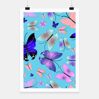 Thumbnail image of Spectrum colorful artistic design butterfly pattern Poster, Live Heroes