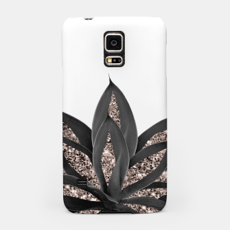 Thumbnail image of Gray Black Agave with Rose Gold Glitter #2 #shiny #tropical #decor #art  Handyhülle für Samsung, Live Heroes