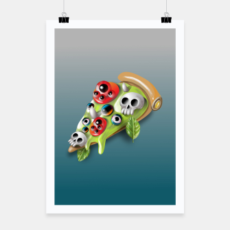 Miniatur Pizza Monster Poster, Live Heroes