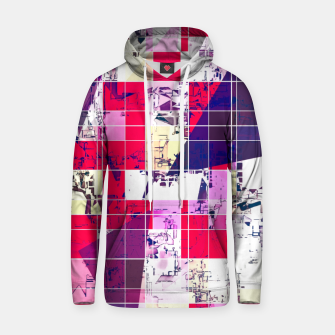 Thumbnail image of geometric square and triangle pattern abstract in red and blue Hoodie, Live Heroes