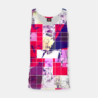 Thumbnail image of geometric square and triangle pattern abstract in red and blue Tank Top, Live Heroes