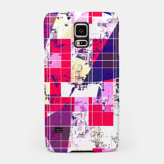 Thumbnail image of geometric square and triangle pattern abstract in red and blue Samsung Case, Live Heroes