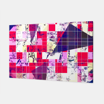 Thumbnail image of geometric square and triangle pattern abstract in red and blue Canvas, Live Heroes