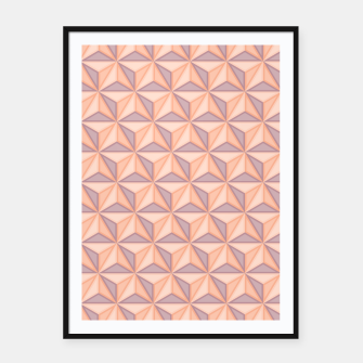 Thumbnail image of Geometric Pattern Framed poster, Live Heroes