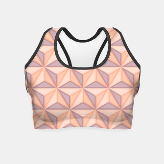 Thumbnail image of Geometric Pattern Crop Top, Live Heroes