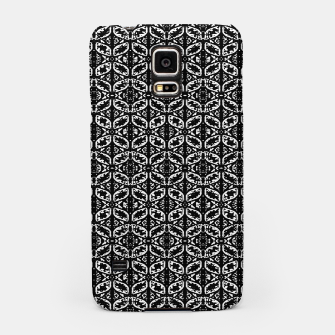 Miniatur Black and White Ornate Print Pattern Samsung Case, Live Heroes