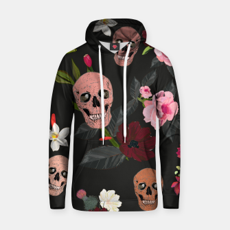 Thumbnail image of Skull and roses, vanilla, cosmos flower. Floral colorful bouquet pattern Hoodie, Live Heroes