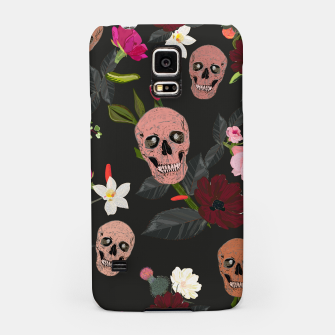 Thumbnail image of Skull and roses, vanilla, cosmos flower. Floral colorful bouquet pattern Samsung Case, Live Heroes