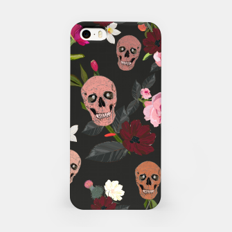 Thumbnail image of Skull and roses, vanilla, cosmos flower. Floral colorful bouquet pattern iPhone Case, Live Heroes