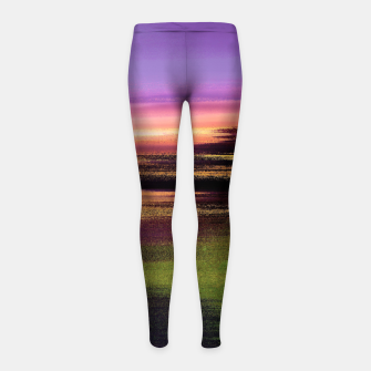 Thumbnail image of Northern lights Girl's leggings, Live Heroes