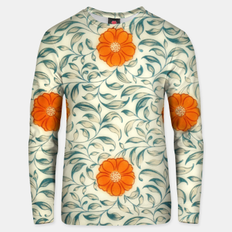 Miniaturka orange floral pattern Unisex sweater, Live Heroes