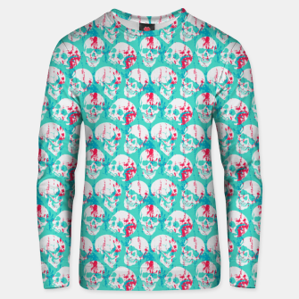 Thumbnail image of Skulls Pattern Unisex sweater, Live Heroes