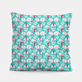 Thumbnail image of Skulls Pattern Pillow, Live Heroes