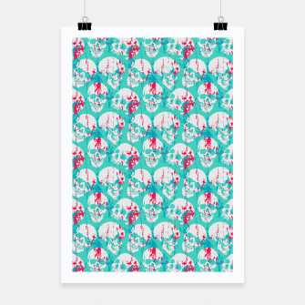 Thumbnail image of Skulls Pattern Poster, Live Heroes