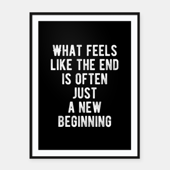 Thumbnail image of Inspirational - New Beginning Framed poster, Live Heroes