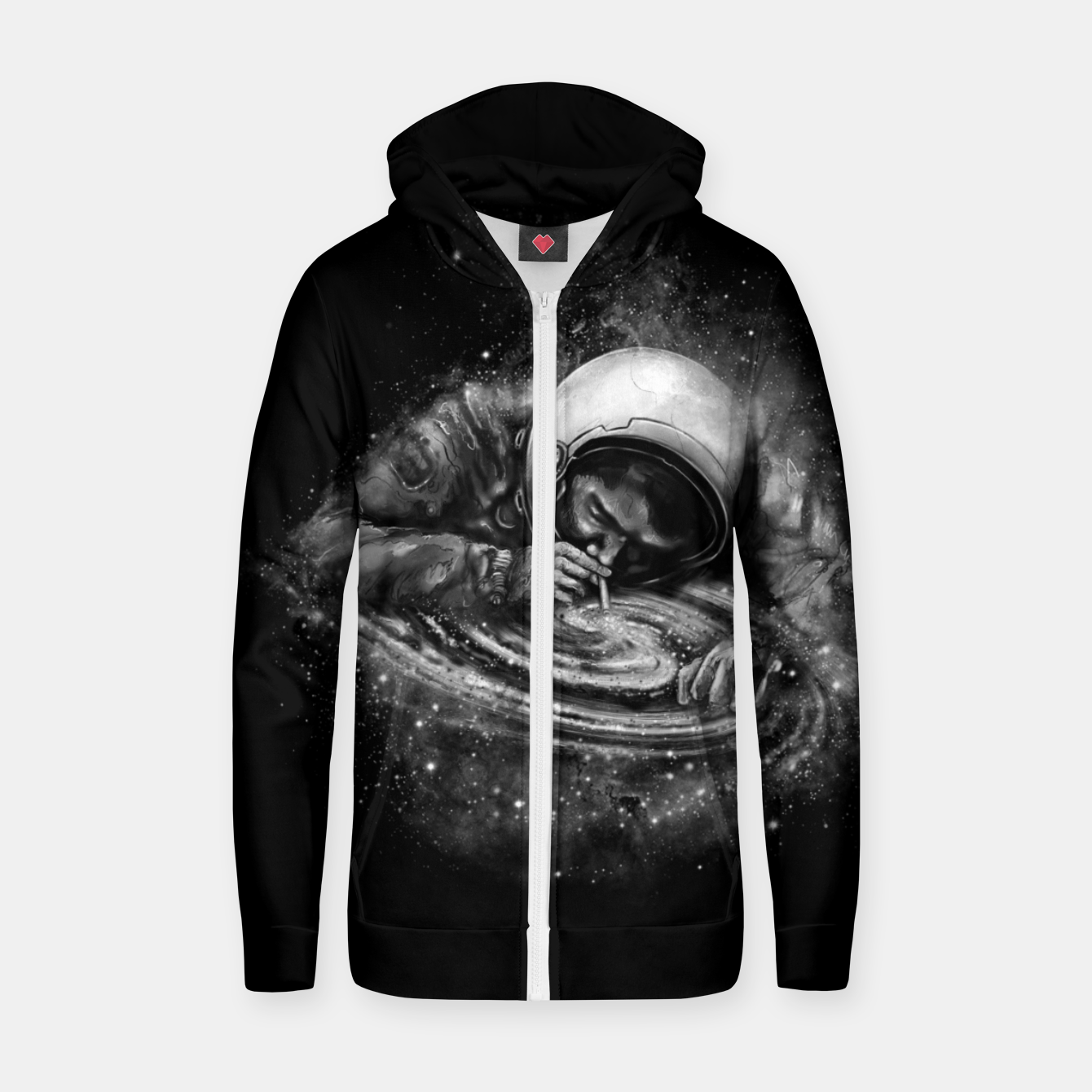 Foto Space Junkie Zip up hoodie - Live Heroes