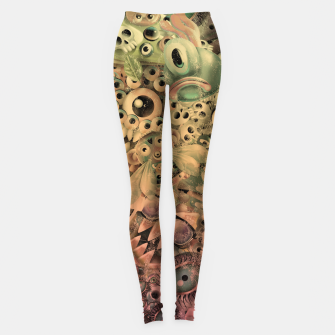 Miniature de image de Washed Monster World Leggings, Live Heroes