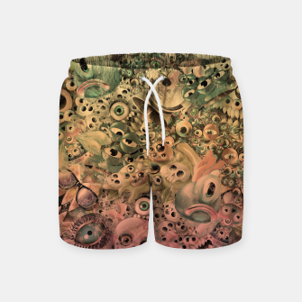 Miniature de image de Washed Monster World Swim Shorts, Live Heroes