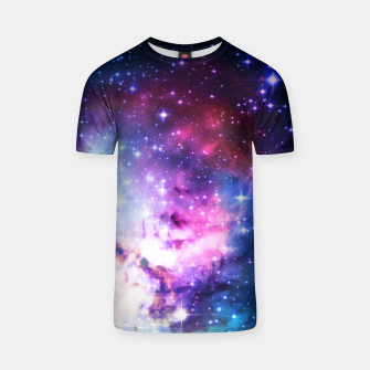 Thumbnail image of Blue galaxy T-shirt, Live Heroes