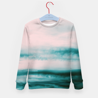 Thumbnail image of Ocean Romance #1 #abstract #decor #art Kindersweatshirt, Live Heroes